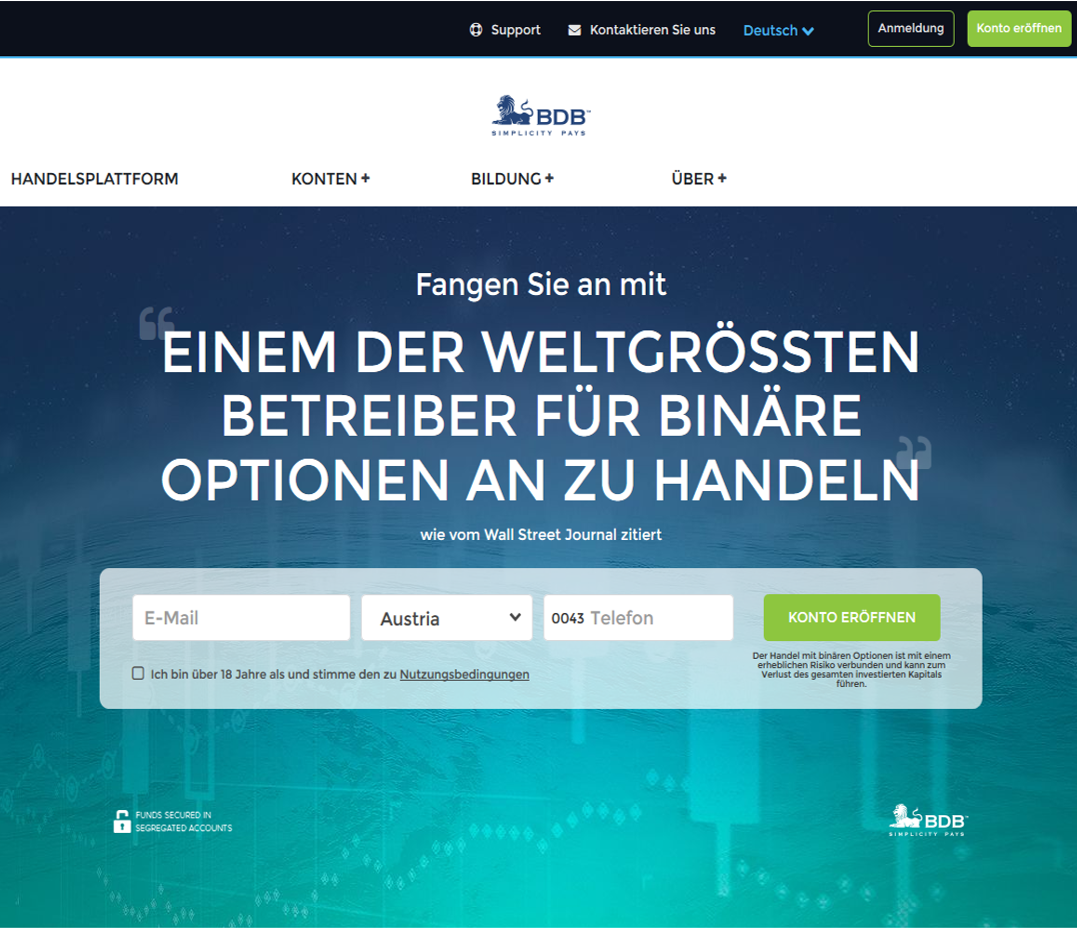 Binary options trading by martingale strategy